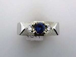 Sapphire Ring - the Birthstone for September, available at John Wallick Jewelers, in Sun City, Arizona, near Phoenix, AZ