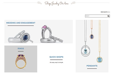 Shop for custom jewelry online at John Wallick Jewelers