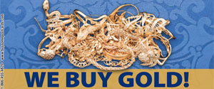 We Buy Gold at John Wallick Jeweler's, in Sun City, Arizona